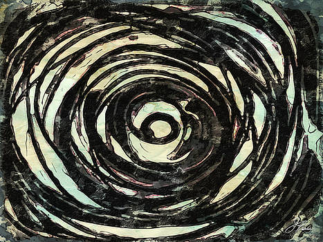 Black and White Abstract Curves by Joan Reese