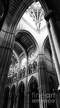 Black and White Almudena Cathedral interior in Madrid by Cesar Padilla