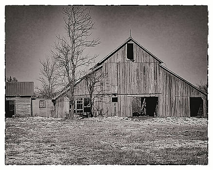 Black and White Barn by Paula Anderson
