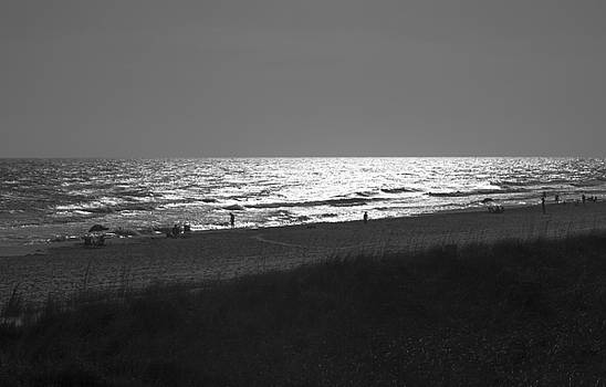 Black and white beach by jeremy raines