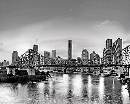 Chris Smith - Black and White Brisbane Landscape