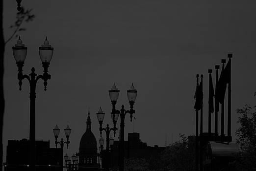 Michelle  BarlondSmith - Black and White City Scape