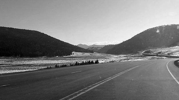 Black and white Colorado Mountains by Amber Davenport