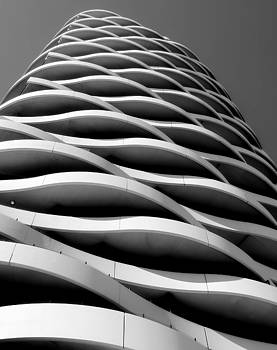Black and White Concrete Waves 2 by Denise Clark