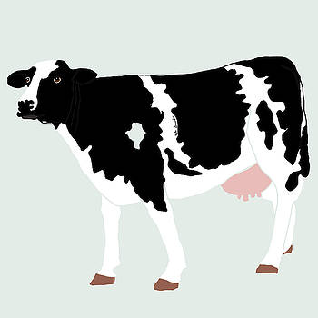 Black and white cow by Kate Farrant