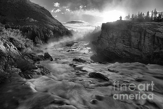 Adam Jewell - Black And White Fire Over Swiftcurrent