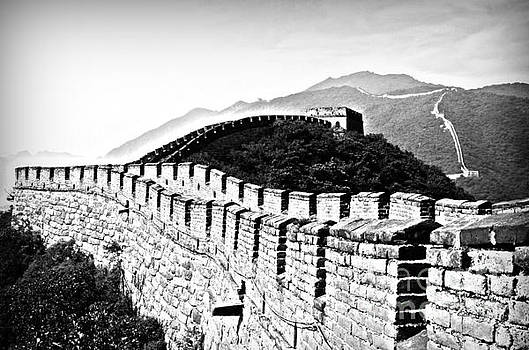 Black and White Great Wall by Alessandro Giorgi Art Photography