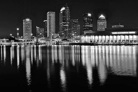 Frozen in Time Fine Art Photography - Black and White Harbor in Tampa Bay