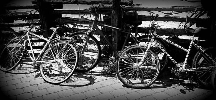 Emily Kelley - Black and White Leaning Bikes