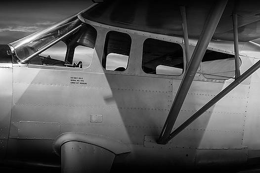 Randall Nyhof - Black and White of US Navy Airplane GH-2