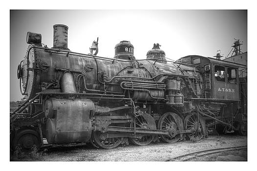 Black And White Old Train by Dustin Soph