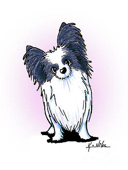 Black and White Papillon by Kim Niles