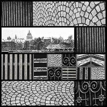 BLACK AND WHITE Paris Collage 1 By Mimi Seton