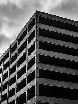 Black and White Parking Garage Photo by Dylan Murphy