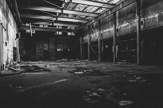 Black and White Photo of Abandoned Building by Dylan Murphy