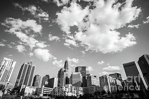 Paul Velgos - Black and White Photo of Charlotte Skyline