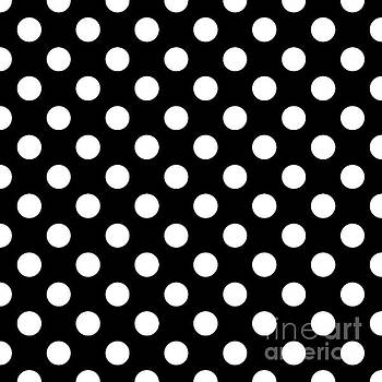Black And White Polka Dots by Janelle Tweed