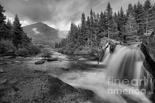Adam Jewell - Black And White Red Rock Falls
