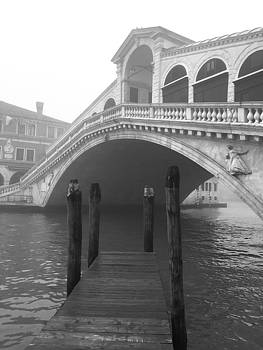 Black And White Rialto Bridge by Rosemary Nagorner