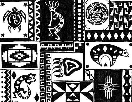 Black and White Southwest Sampler by Susie WEBER