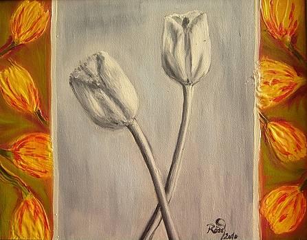 Black and white tulips by Beata Rosslerova