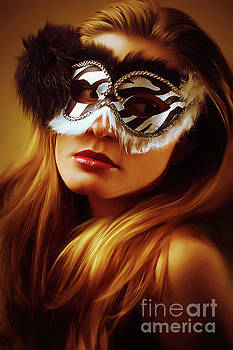Dimitar Hristov - Black and White Venetian Eye Mask