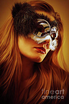 Dimitar Hristov - Black and White Venetian Mask II Eye Mask