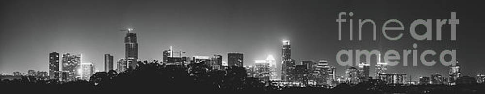 Black and White View of Austin Skyline by PorqueNo Studios