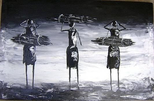 Black And White Wood by Joseph Muchina