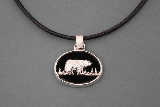 Black Bear Necklace by Ted Lepczynski