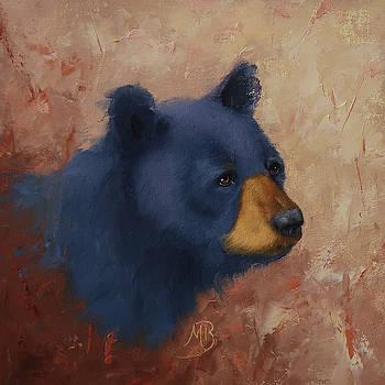 Black Bear Portrait by Monica Burnette