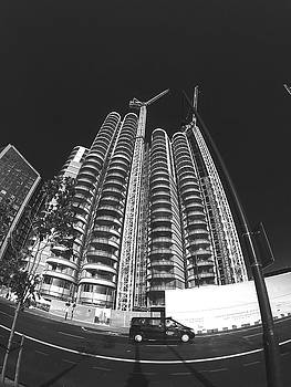 Black Cab Black Towers by Steve Swindells