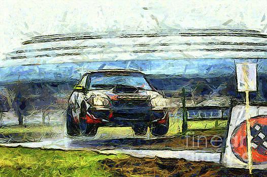 Black car jump by Magomed Magomedagaev