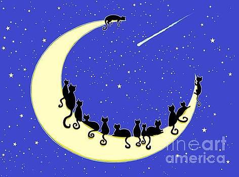 Black Cats Moon by Nick Gustafson