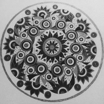 Black circle 9 by Jilly Curtis