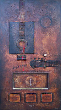 Black Guitar. 2006. by Daniel Pontet