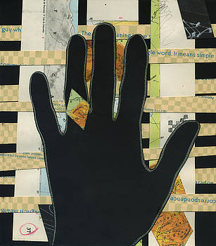 Black Hand Collage by Christina Knapp