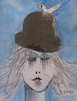 Black Hat and Bird by Michael Sime