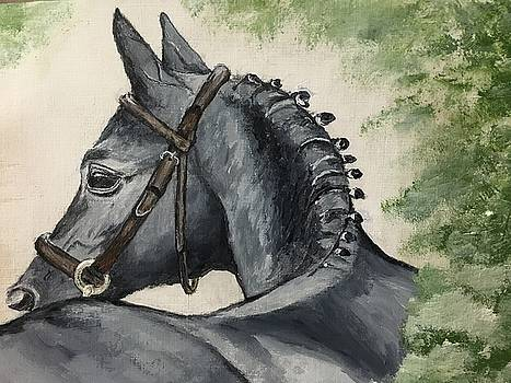 Black Horse on the Path by Sweeney