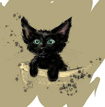 Black kitty by Ana Dragan
