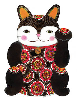 Black Maneki-neko by Helena Melo