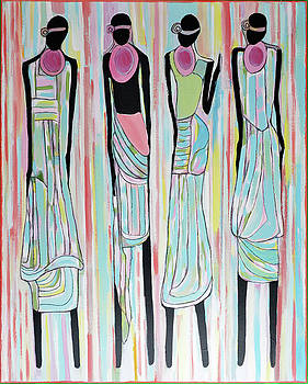 Black Massai Women II by Dianke Daffe-Rachow
