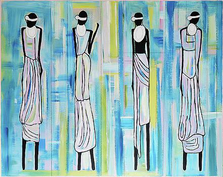 Black Massai Women III by Dianke Daffe-Rachow