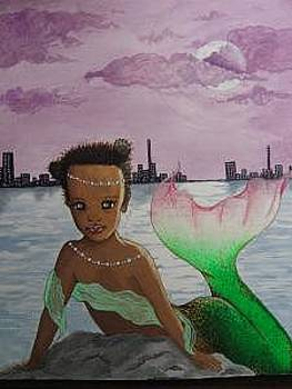 Black Mermaid  by Daria Lyman