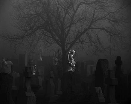 Gothicrow Images - Black Midnight Stone Angel