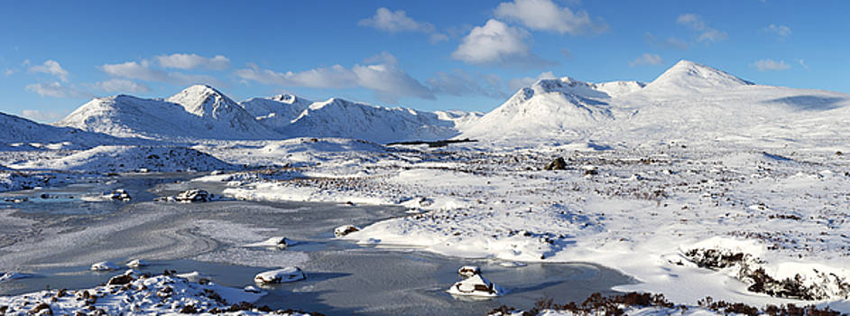 Black Mount Winter Panorama by Grant Glendinning
