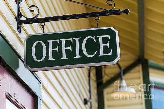 Black Office Sign  by George Sheldon