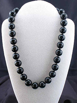 Black Onyx necklace by Sarupa  Shrestha