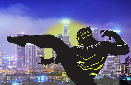Black Panther Captures the City by Michael Chatman