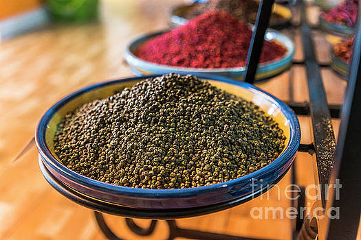 Black Pepper In Spice Shop by Compuinfoto